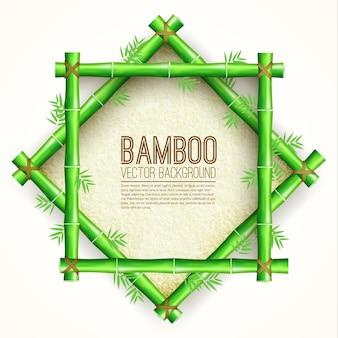 Panneau de bambou modèle avec papier étiré pour le texte