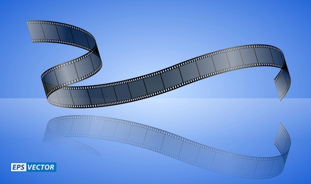 Panneau de battant de cinéma réaliste isolé ou type de cinéma de bande de film 35mm