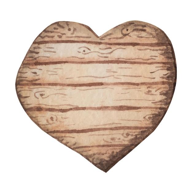 Panneau en bois aquarelle, plaque. planches de bois peintes à la main. illustration avec un espace pour le texte.