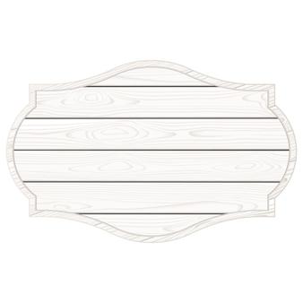 Panneau en bois blanc isolé. illustration vectorielle