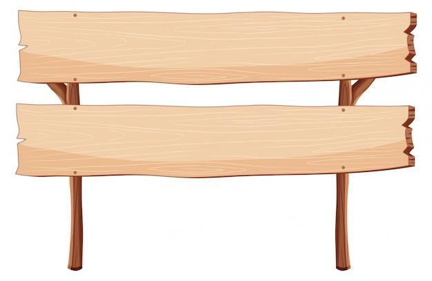Panneau en bois blanc isolé