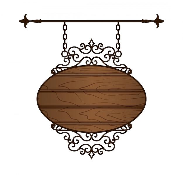 Panneau en bois. cadre vintage.