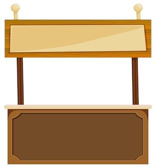 Panneau en bois sur comptoir bar