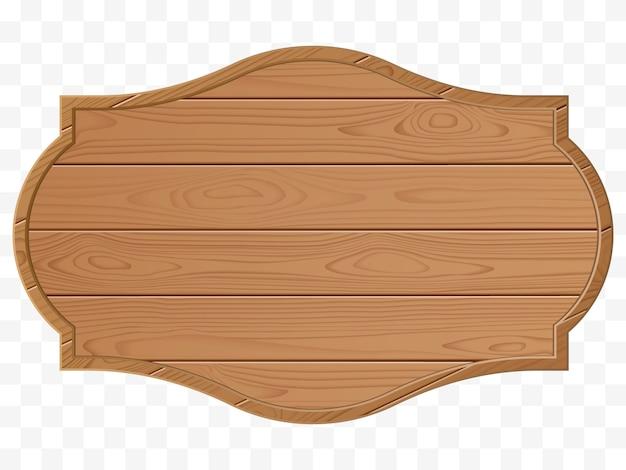 Panneau en bois isolé. illustration vectorielle