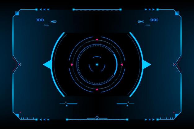 Panneau de commande hud vr interface utilisateur. concept futuriste. vecteur et illustration