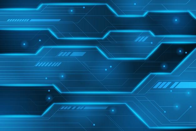 Panneau concept futuriste avec néon