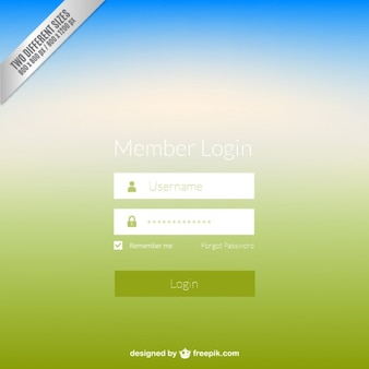 Panneau de connexion web