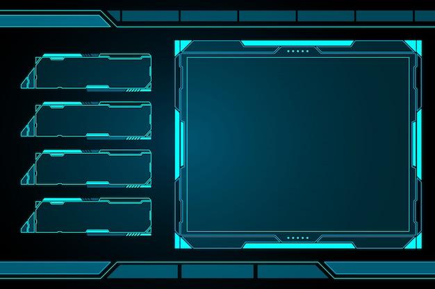 Panneau de contrôle futuriste