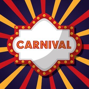 Panneau de fête du carnaval juste