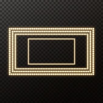 Panneau de film rougeoyant avec ampoule d'or