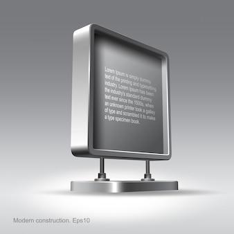 Panneau publicitaire, conception d'éléments web