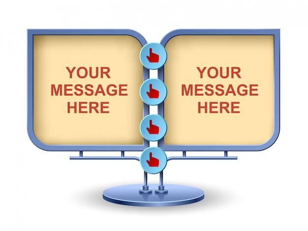 Panneau publicitaire moderne, conception d'élément web, construction moderne, illustration vectorielle