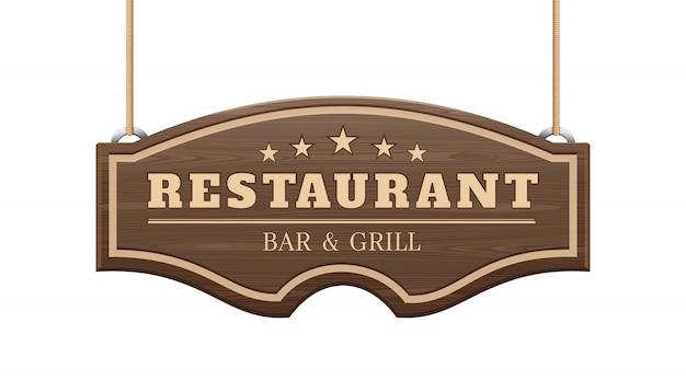 Panneau de restaurant.