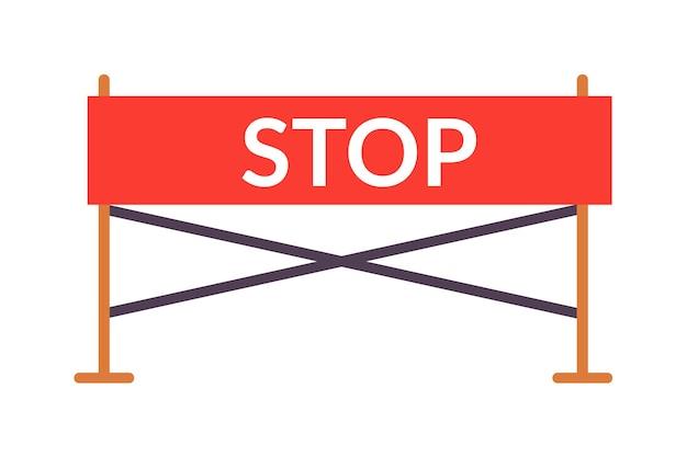 Panneau de signalisation d'auto-école de conduite de frontière d'arrêt rouge isolé