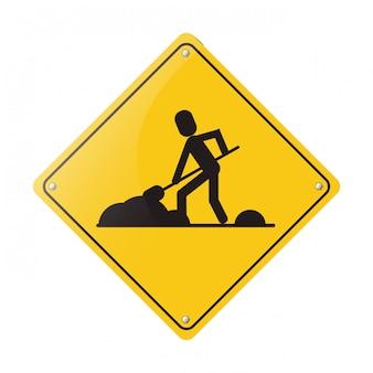 Panneau de signalisation de construction