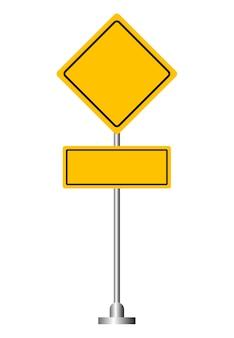 Panneau de signalisation jaune blanc