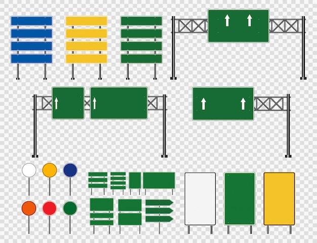 Panneau de signalisation, panneaux de signalisation routière isolés sur fond transparent