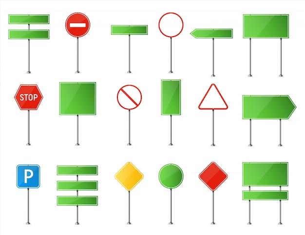 Panneau de signalisation. plaque vierge de circulation routière.