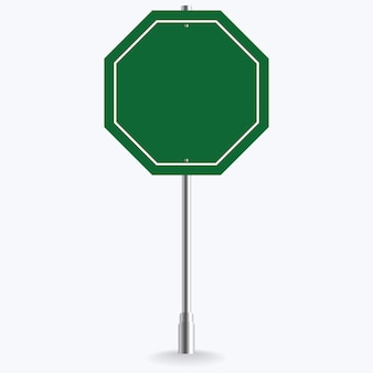 Panneau de signalisation vert blanc ou illustration de trafic vide