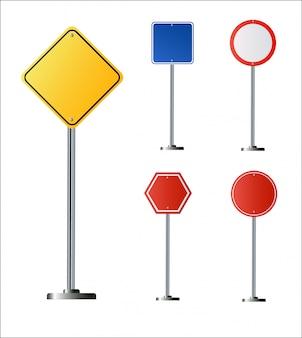 Panneau de signalisation vert blanc