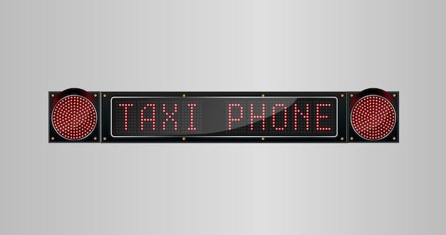 Panneau de téléphone de taxi du panneau mené