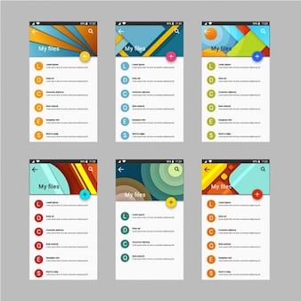 Panneaux d'administrateur avec des dessins géométriques