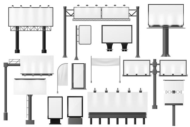 Panneaux d'affichage et différentes maquettes publicitaires