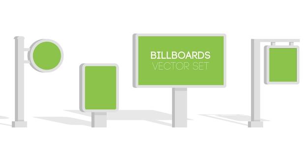 Panneaux d'affichage, faire de la publicité sur les panneaux d'affichage, bannière de panneau d'affichage léger de ville