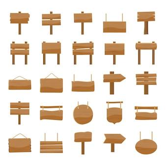 Panneaux d'affichage icons set