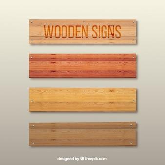 Des panneaux en bois