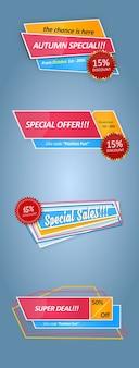 Panneaux modernes de promotion des ventes
