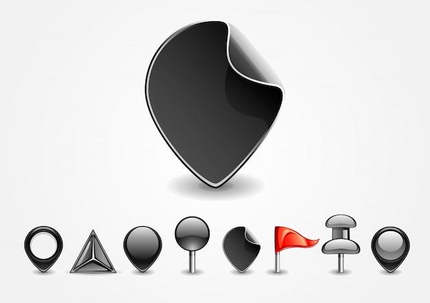 Panneaux de navigation noirs