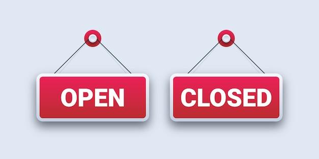 Panneaux ouverts et fermés