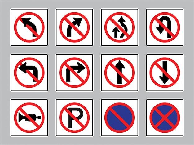 Panneaux de signalisation.