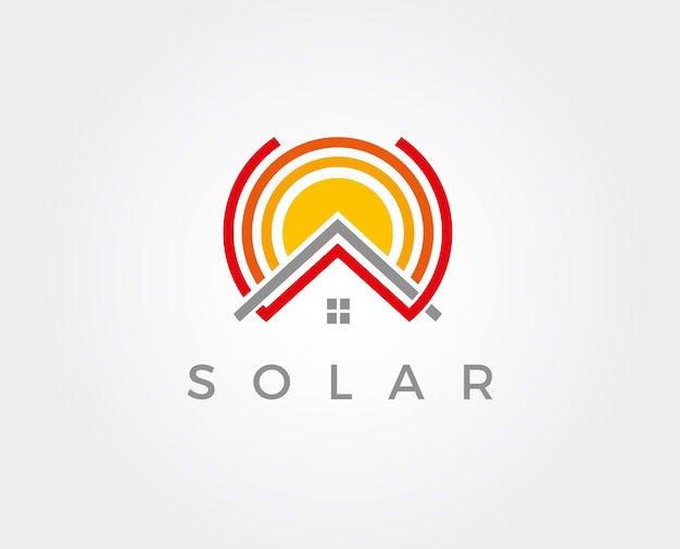 Panneaux solaires toit icône vecteur bouton logo symbole concept