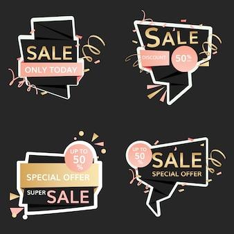 Panneaux de vente festifs