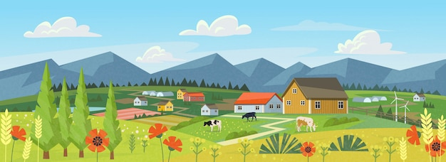 Panorama de la ferme
