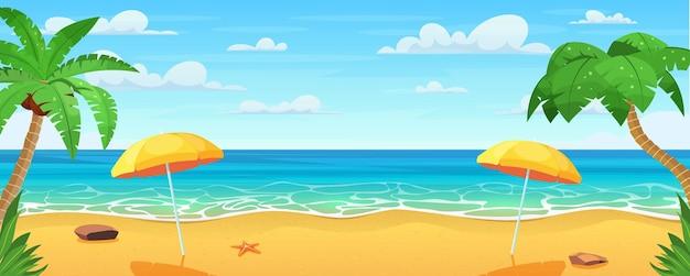 Panorama sur la mer. plage tropicale. paysage marin, bannière de vacances