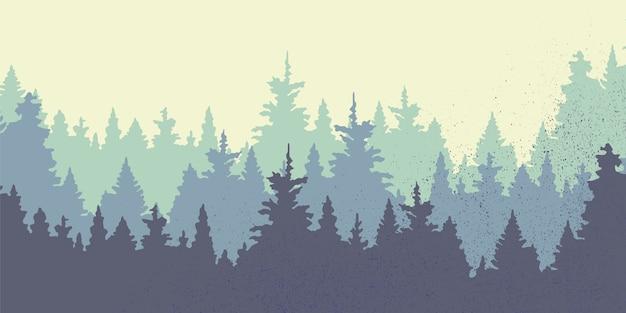 Panoramique sur fond d'arbres