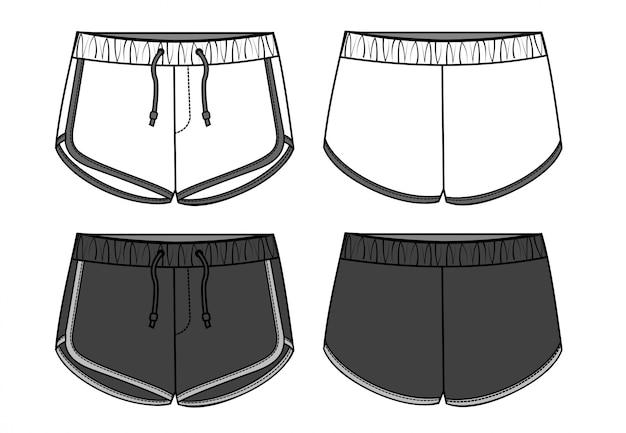 Pantalon court fashion flats modelate