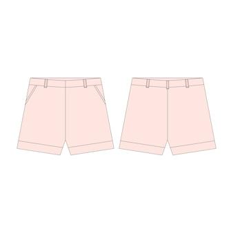 Pantalon short rose pour les filles isolées.