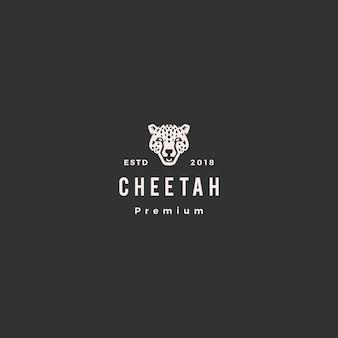 Panthère guépard tête logo icône illustration vectorielle