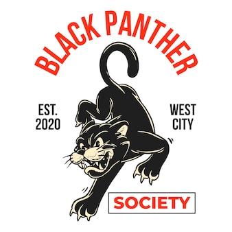 Panthère noire de dessin animé