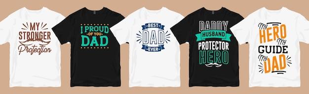Papa cite typographie conceptions de t-shirt lettrage de paquet