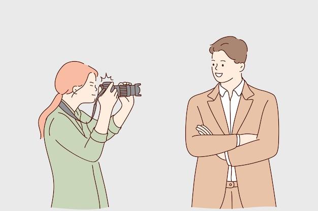 Paparazzi, succès, concept de renommée.
