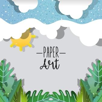 Paper art nature paysage
