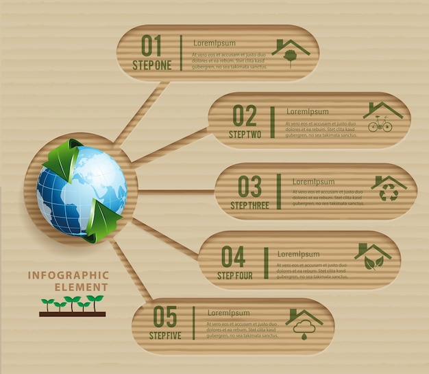 Paper craft écologie concept green design environnement et nature.