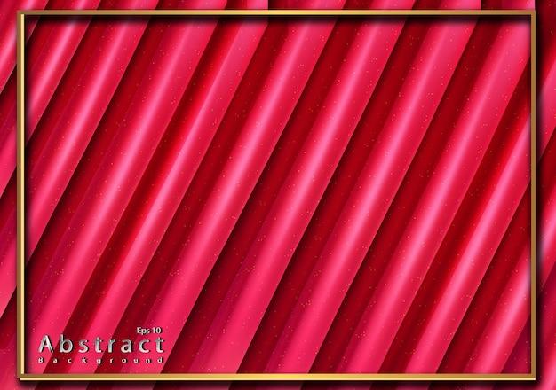 Papercut abstrait rose avec texture 3d