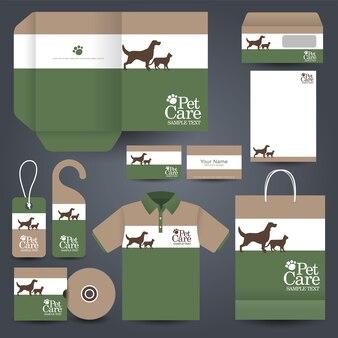 Papeterie d'affaires pour animaux de compagnie et polo
