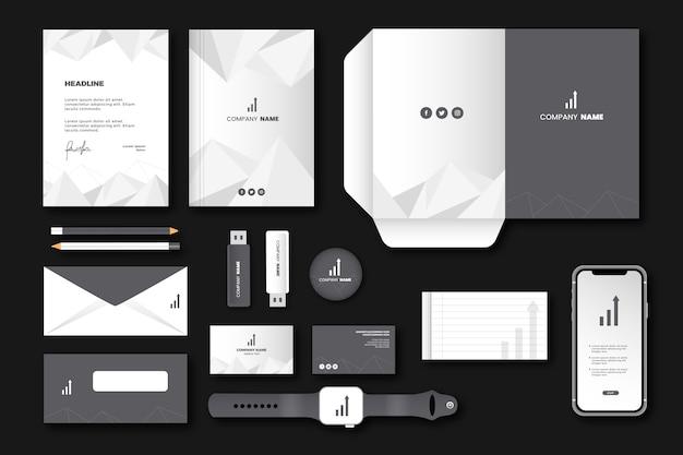 Papeterie d'affaires simple et moderne